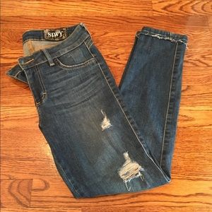 SIWY Medium Wash Distressed Jeans